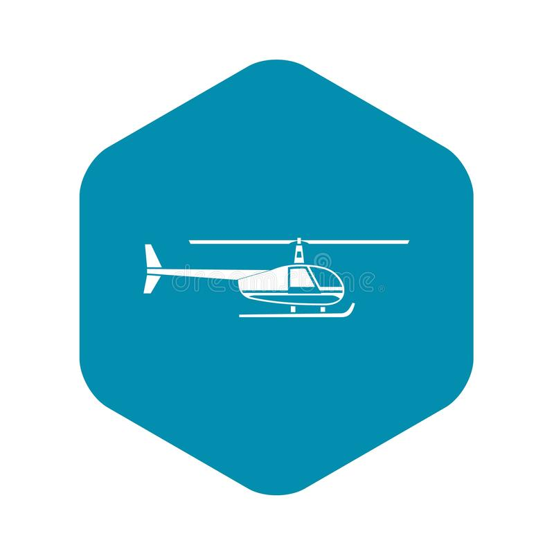 Icono del helic?ptero, estilo simple stock de ilustración