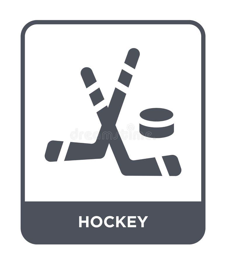 icono del hockey en estilo de moda del diseño icono del hockey aislado en el fondo blanco símbolo plano simple y moderno del icon stock de ilustración