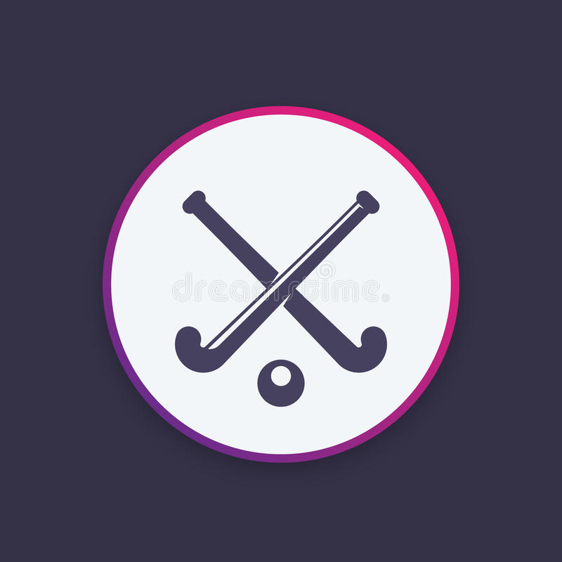Icono del hockey hierba, logotipo del vector libre illustration