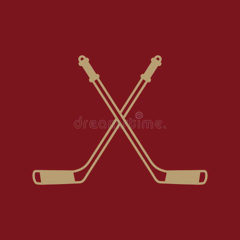 Icono del hockey Símbolo del deporte plano ilustración del vector