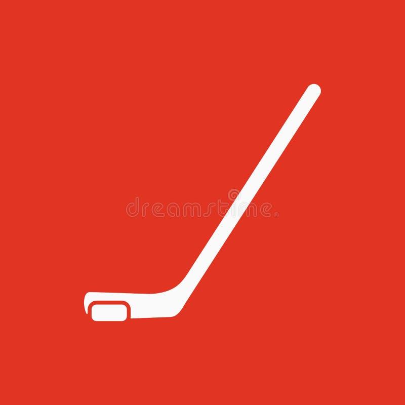Icono del hockey Símbolo del juego plano stock de ilustración