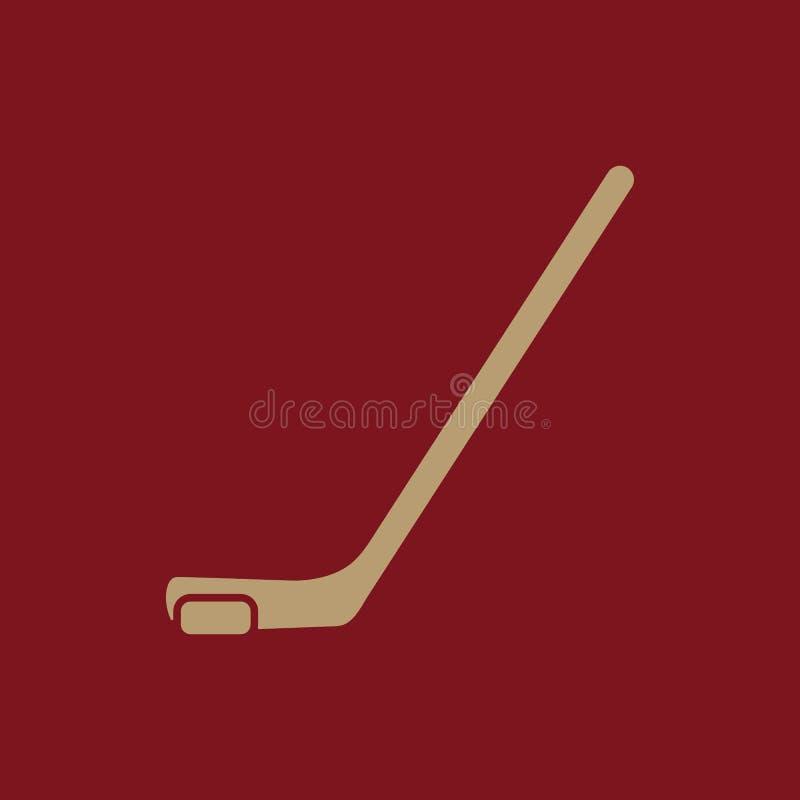Icono del hockey Símbolo del juego plano ilustración del vector