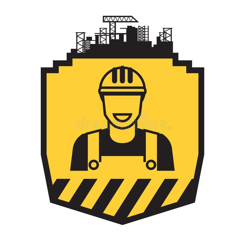 Icono del hombre del constructor libre illustration
