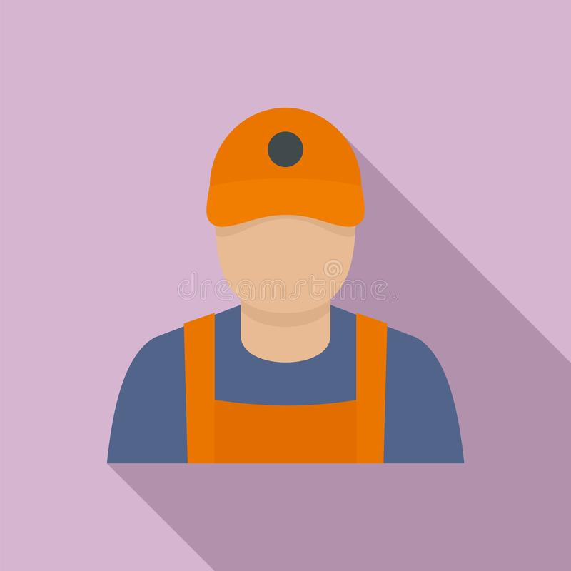 Icono del hombre de la gasolinera, estilo plano libre illustration