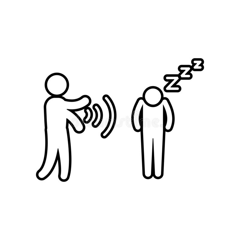 icono del hombre de la hipnosis Elemento del héroe para el concepto y el icono móviles de los apps de la web Esquema, línea fina  ilustración del vector