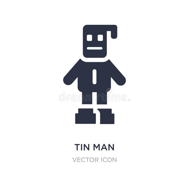 icono del hombre de la lata en el fondo blanco Ejemplo simple del elemento del concepto de la gente ilustración del vector