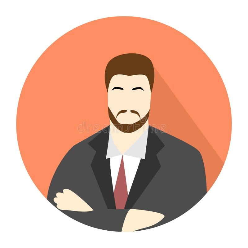 Icono del hombre de negocios stock de ilustración
