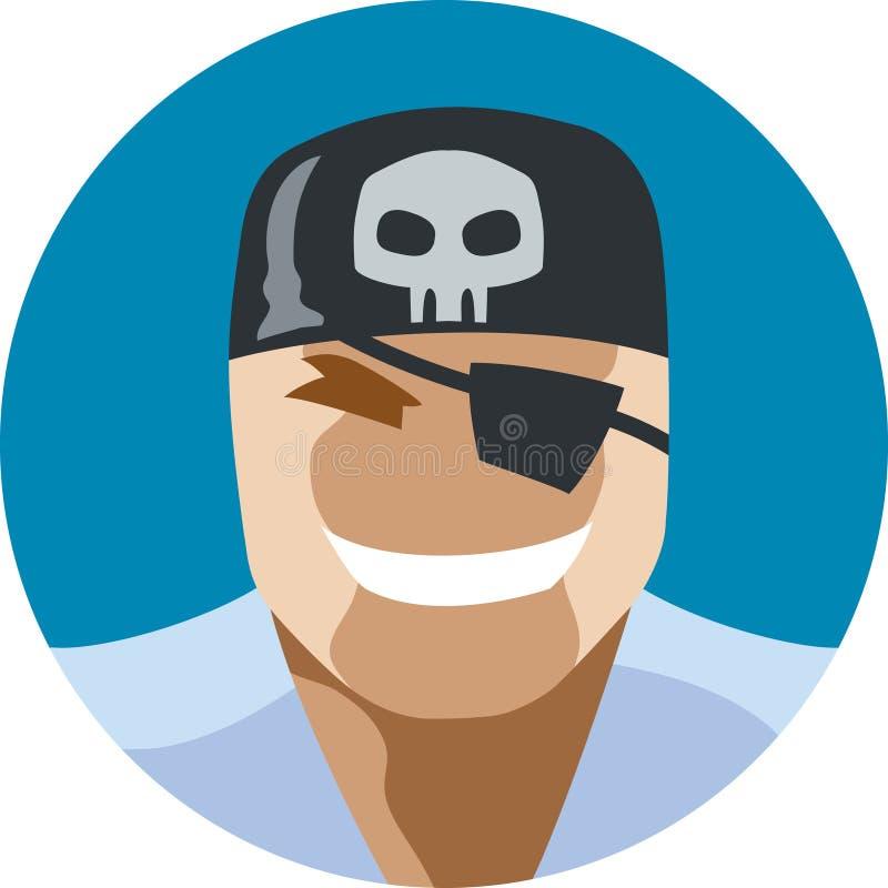 Icono del hombre del pirata libre illustration