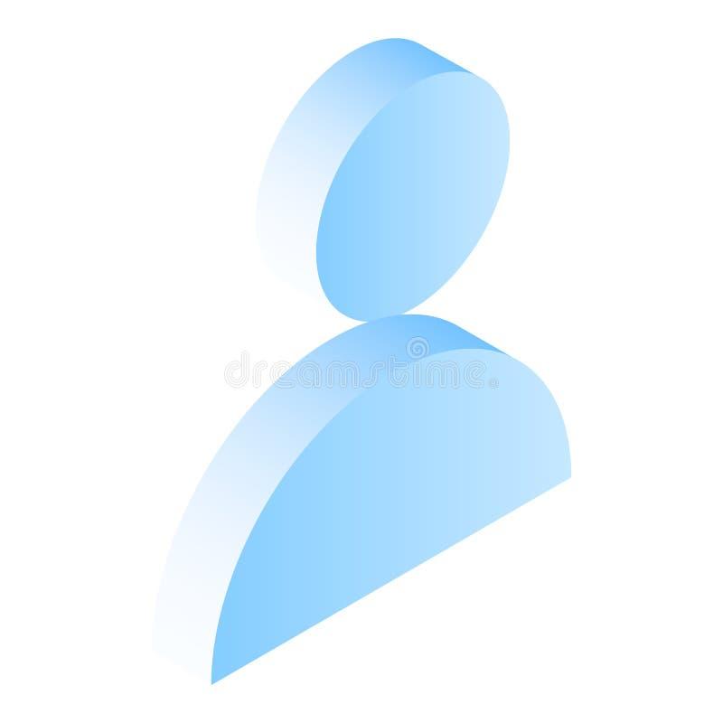 Icono del hombre, estilo isométrico ilustración del vector