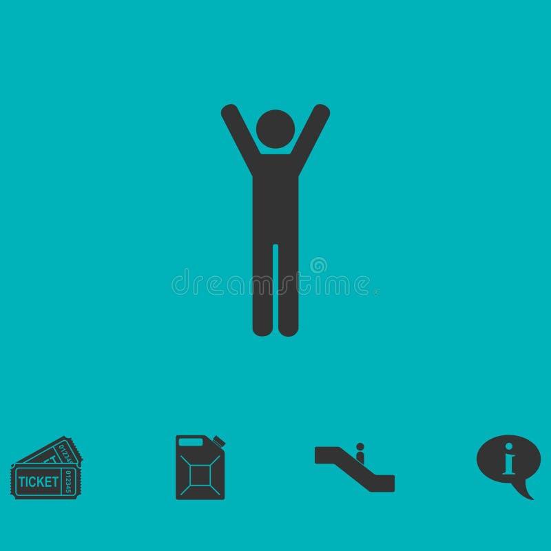 Icono del hombre plano stock de ilustración