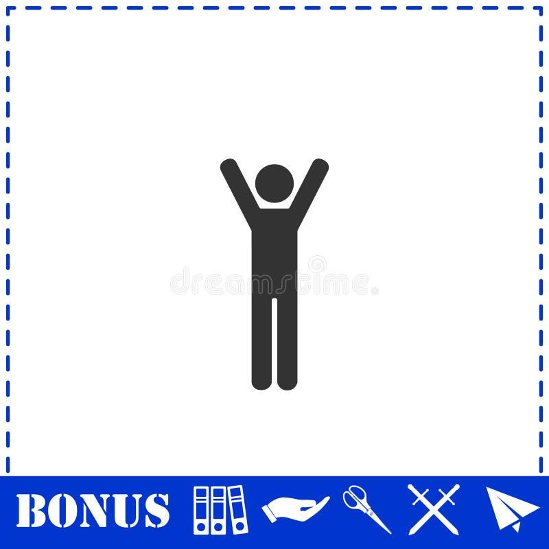 Icono del hombre plano ilustración del vector