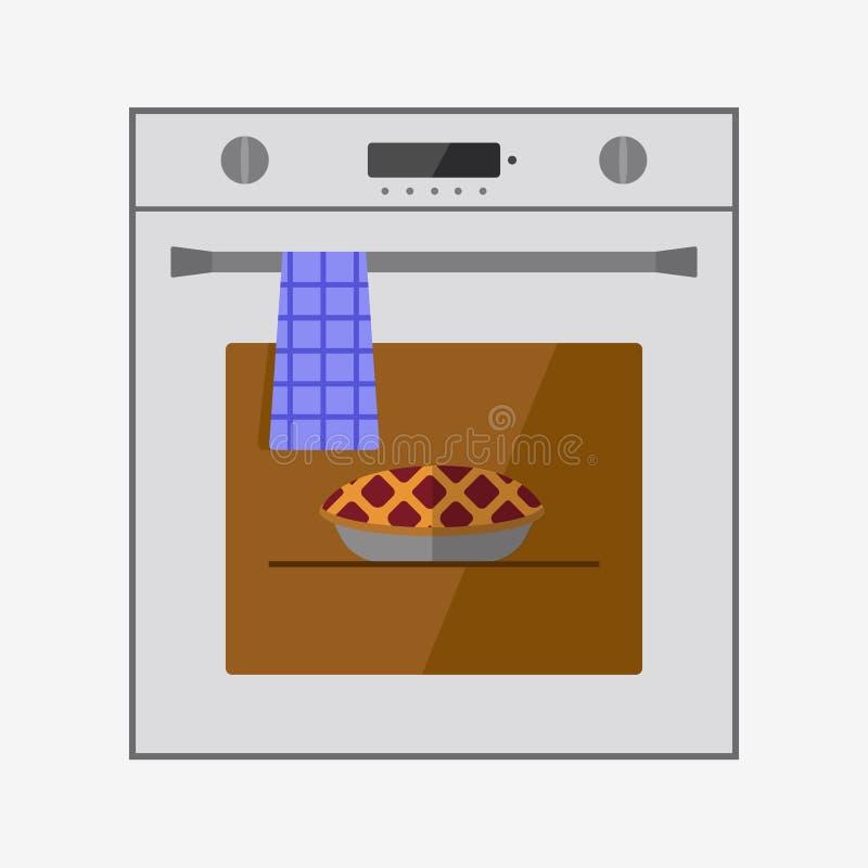 Icono del horno stock de ilustración