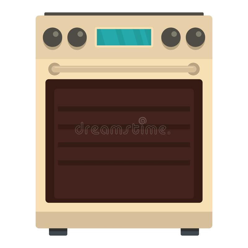 Icono del horno de la estufa, estilo plano libre illustration