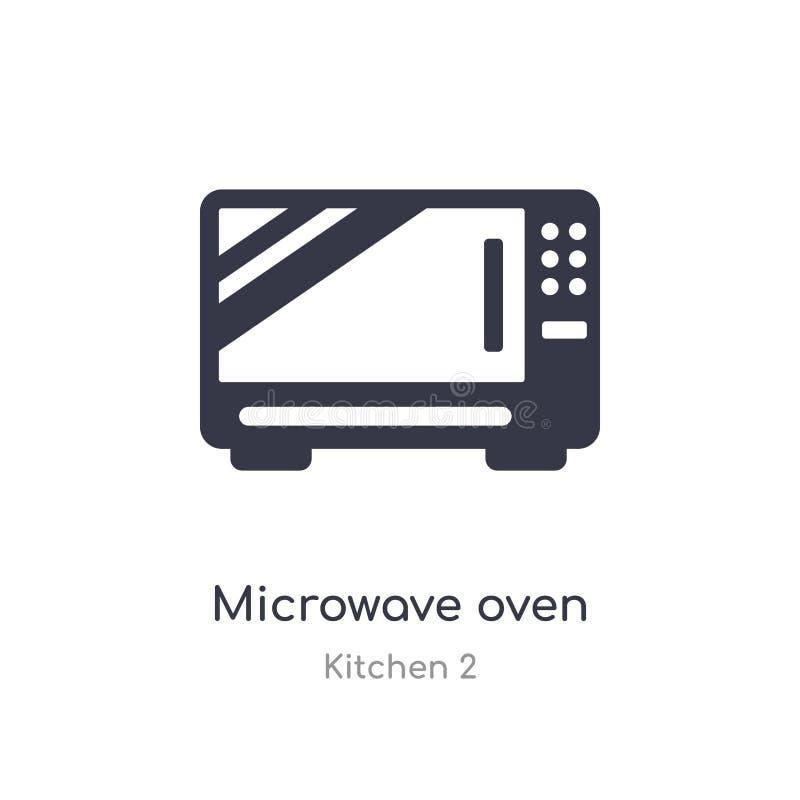 Icono del horno de microondas ejemplo aislado del vector del icono del horno de microondas de la colección de la cocina 2 editabl stock de ilustración