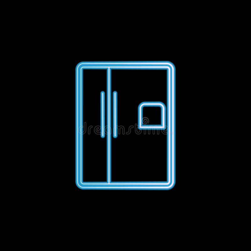 icono del horno de microondas en el estilo de neón Uno del logotipo del icono de la colección de los artículos del elctricity se  ilustración del vector