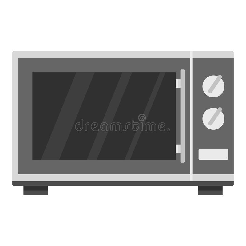 Icono del horno de microondas de la cocina, estilo de la historieta ilustración del vector