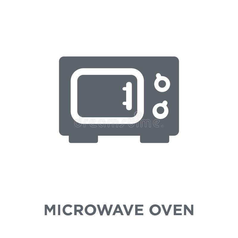 Icono del horno de microondas de la colección ilustración del vector