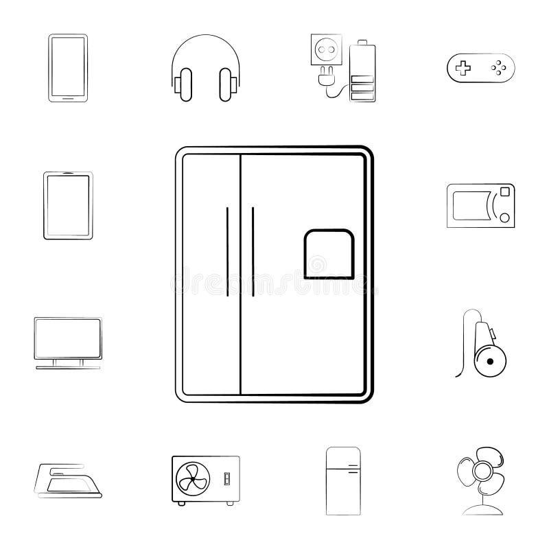 Icono del horno de microondas Sistema detallado de los aparatos electrodomésticos Diseño gráfico superior Uno de los iconos de la ilustración del vector