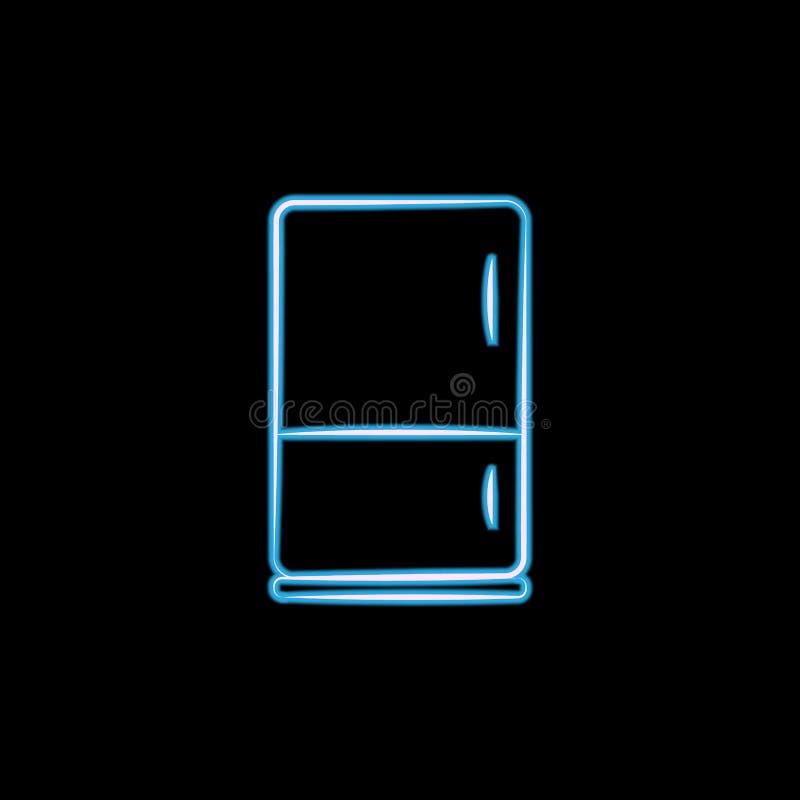 icono del horno en el estilo de neón Uno del logotipo del icono de la colección de los artículos del elctricity se puede utilizar ilustración del vector