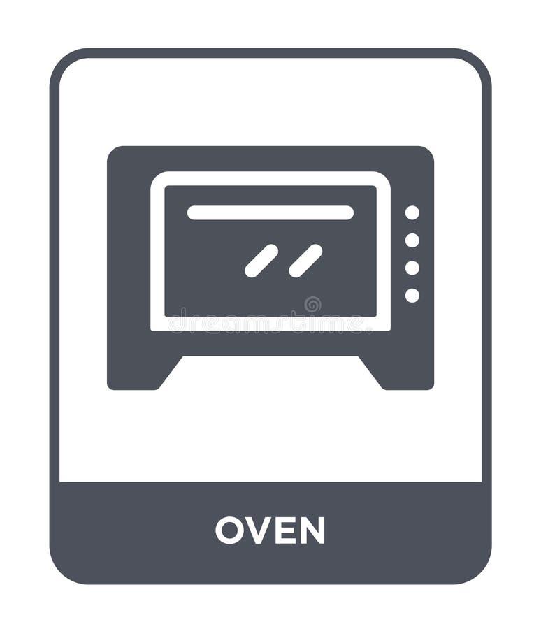 icono del horno en estilo de moda del diseño Icono del horno aislado en el fondo blanco símbolo plano simple y moderno del icono  ilustración del vector