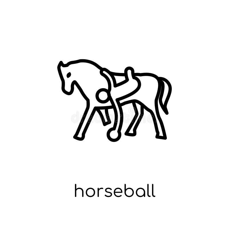 icono del horseball Icono linear plano moderno de moda del horseball del vector libre illustration