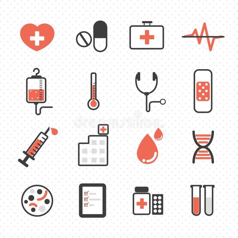 Icono del hospital ilustración del vector