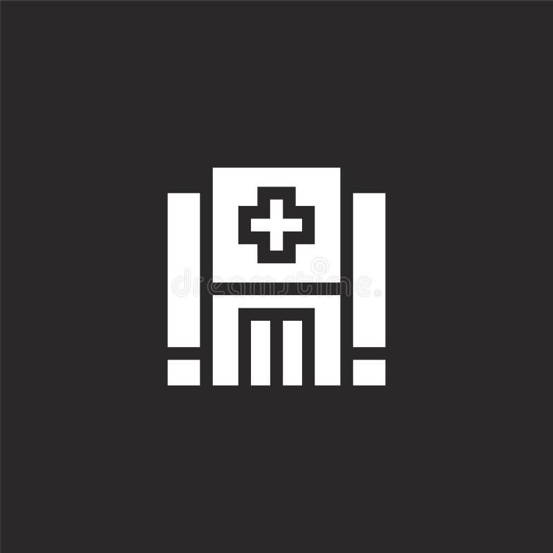 Icono del hospital Icono llenado del hospital para el diseño y el móvil, desarrollo de la página web del app icono del hospital d libre illustration