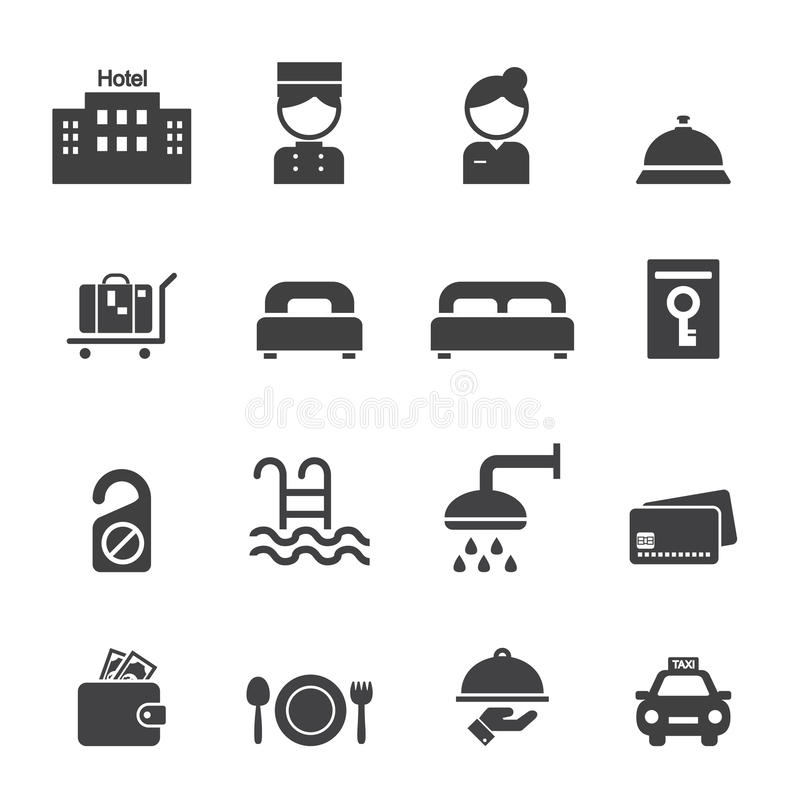 Icono del hotel ilustración del vector