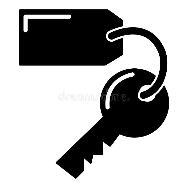 Icono del hotel de la llave de sitio, estilo simple libre illustration