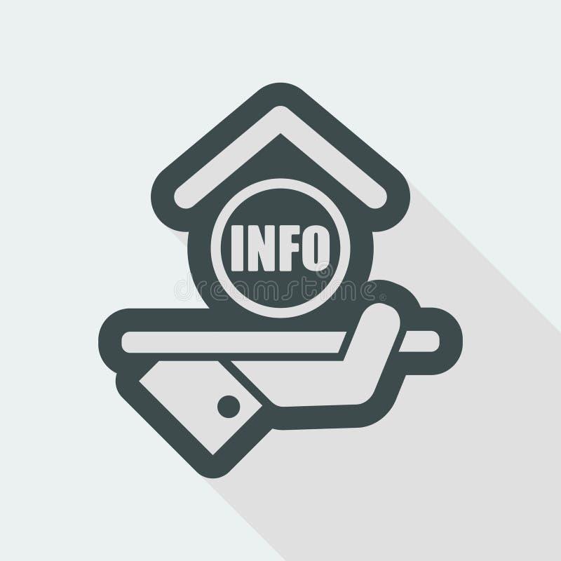 Icono del hotel info ilustración del vector