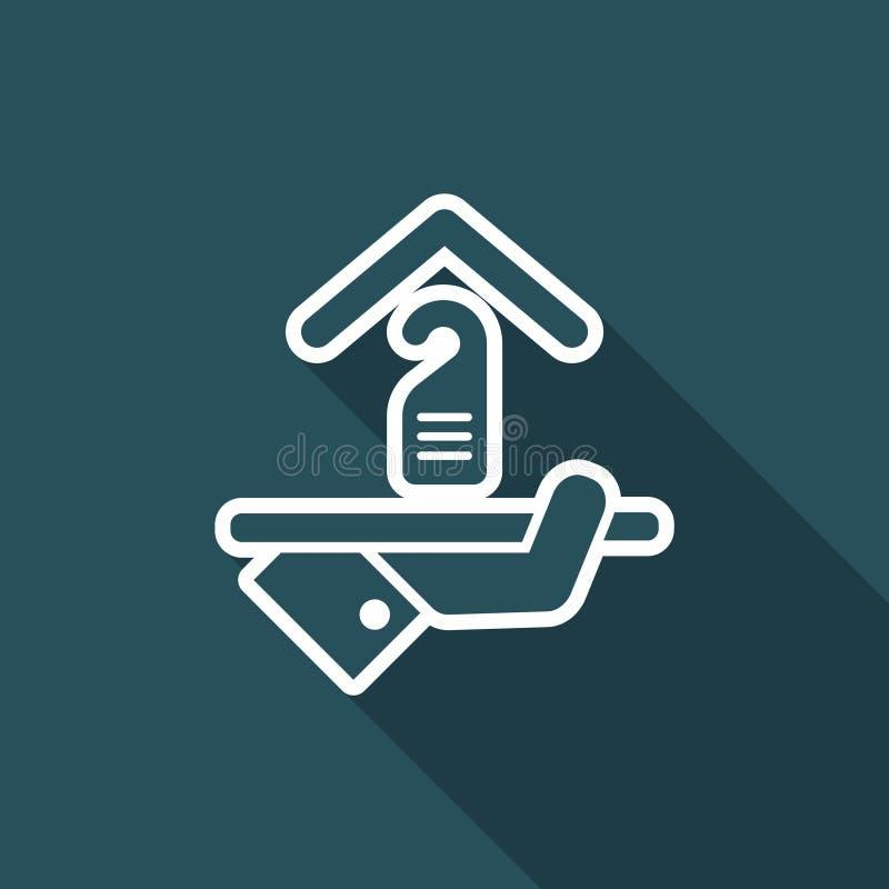 Icono del hotel Privacidad de la persona stock de ilustración