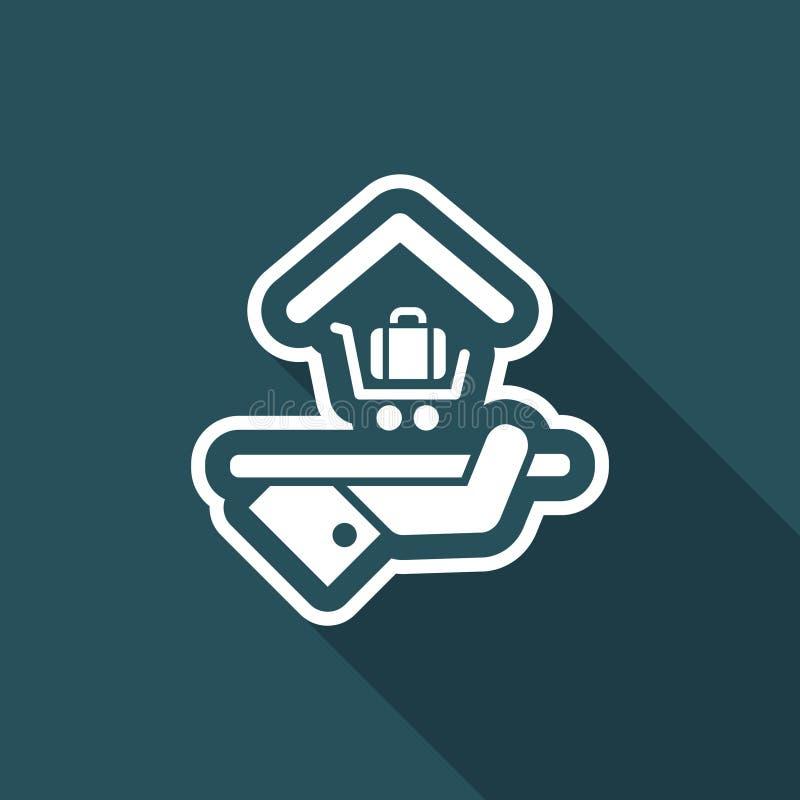 Icono del hotel Servicio del equipaje libre illustration