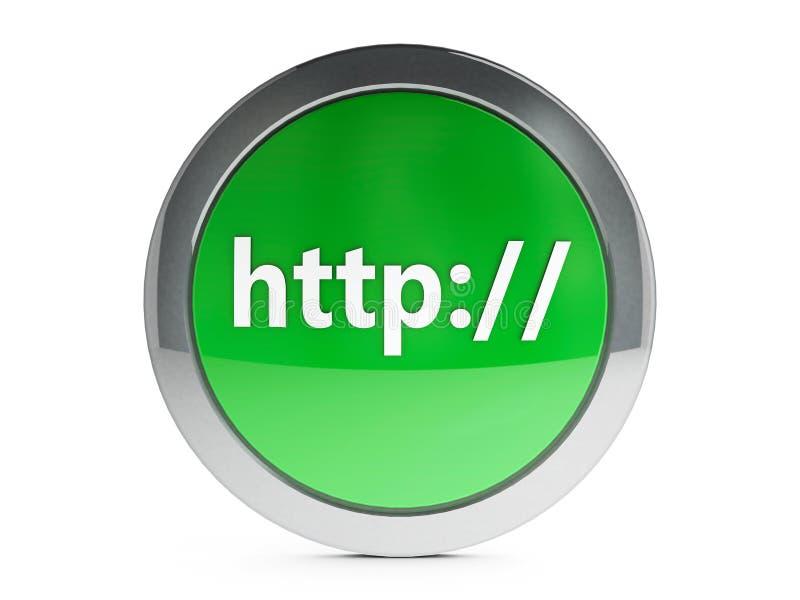 Icono del HTTP con punto culminante libre illustration