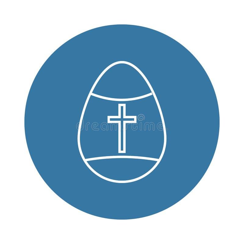 Icono del huevo de Pascua Elemento de los iconos de pascua para los apps móviles del concepto y del web El icono del huevo de Pas ilustración del vector
