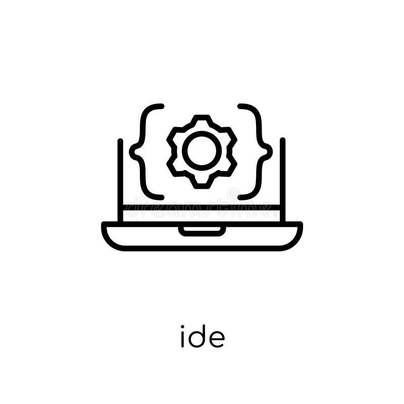 Icono del IDE Icono linear plano moderno de moda del IDE del vector en el CCB blanco ilustración del vector