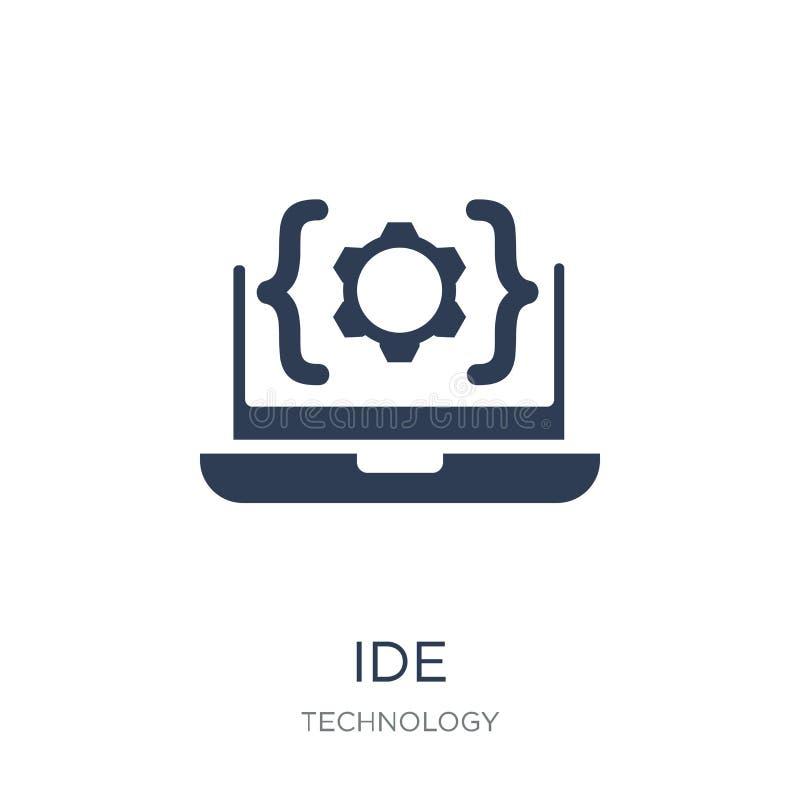 Icono del IDE Icono plano de moda del IDE del vector en el fondo blanco de T libre illustration