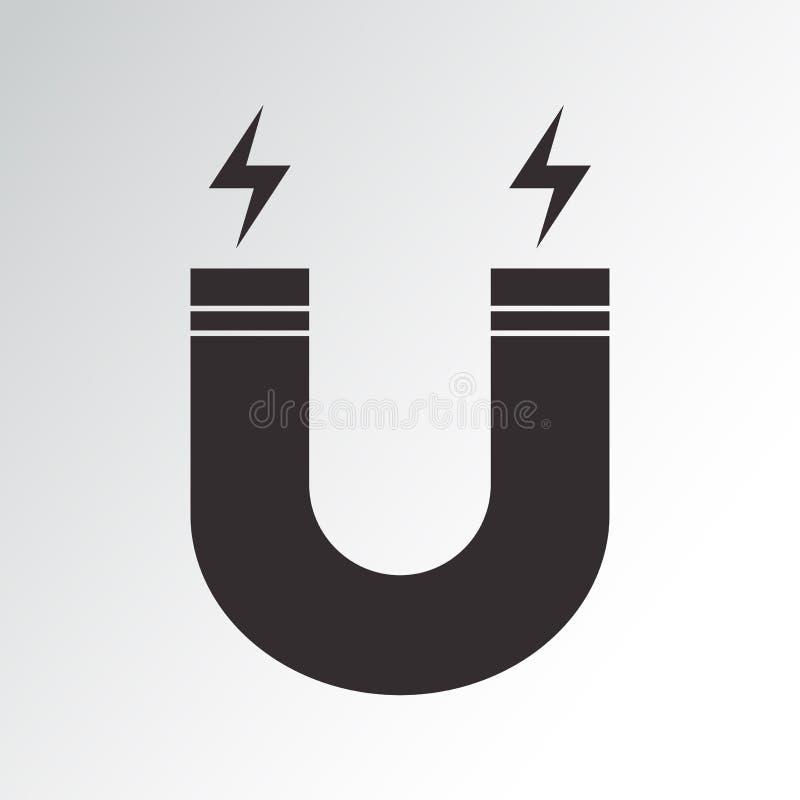 Icono del imán Ilustración del vector ilustración del vector
