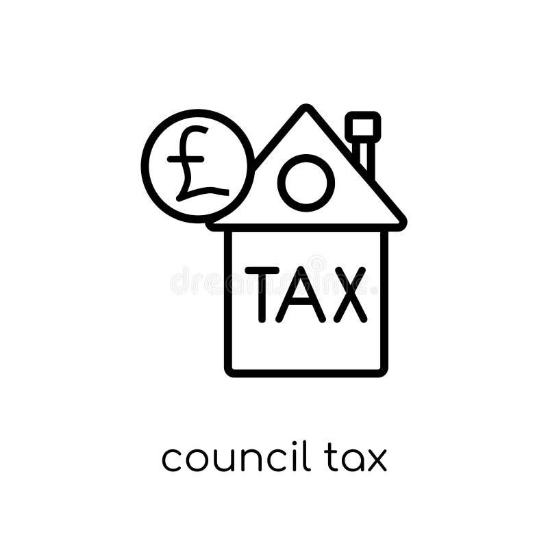 Icono del impuesto municipal  ilustración del vector