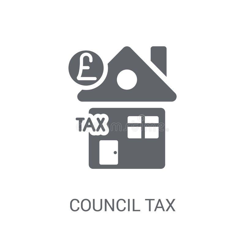 Icono del impuesto municipal  stock de ilustración