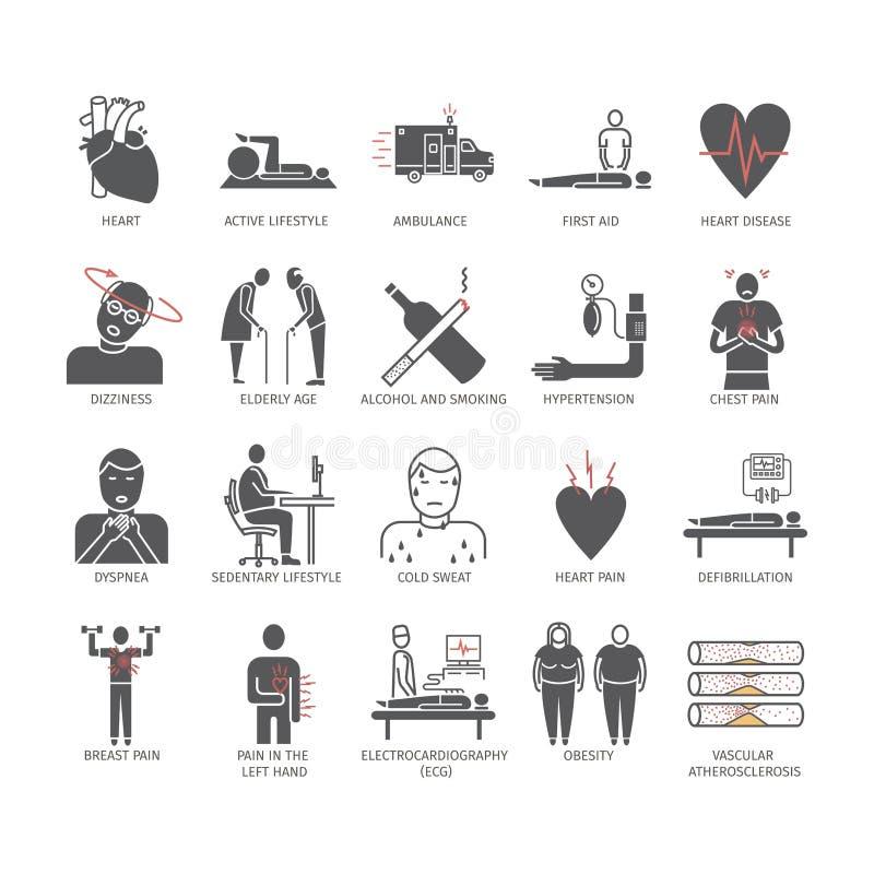 Icono del infarto del miocardio Síntomas, tratamiento libre illustration