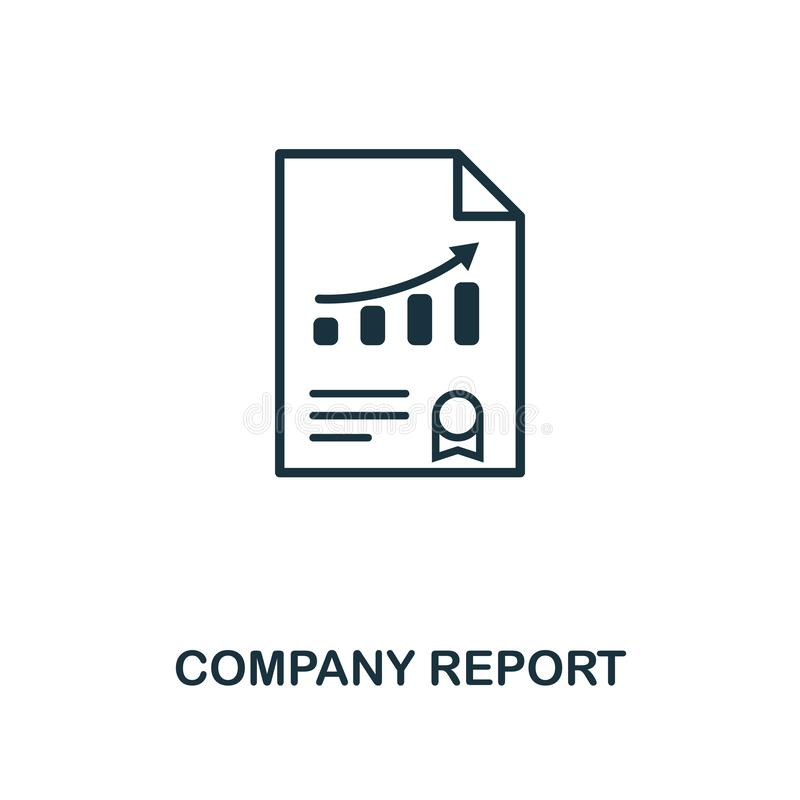 Icono del informe de la compañía Diseño creativo del elemento de la colección de los iconos de la gestión de riesgos Icono perfec libre illustration