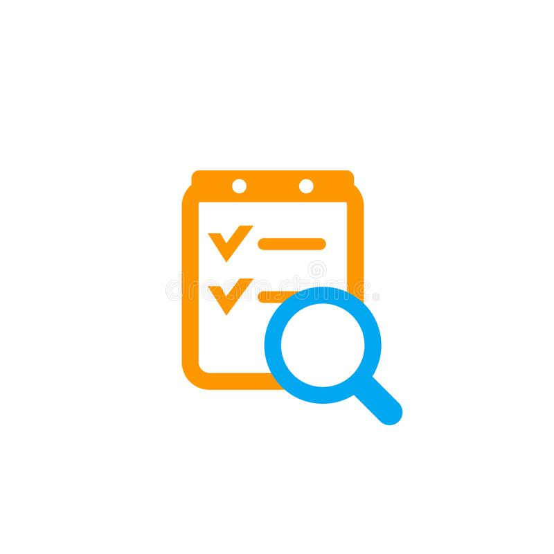 Icono del informe de la encuesta en blanco libre illustration