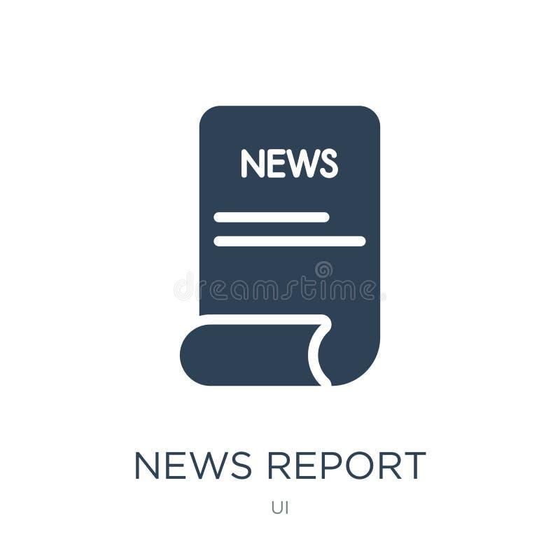icono del informe de noticias en estilo de moda del diseño icono del informe de noticias aislado en el fondo blanco icono del vec libre illustration