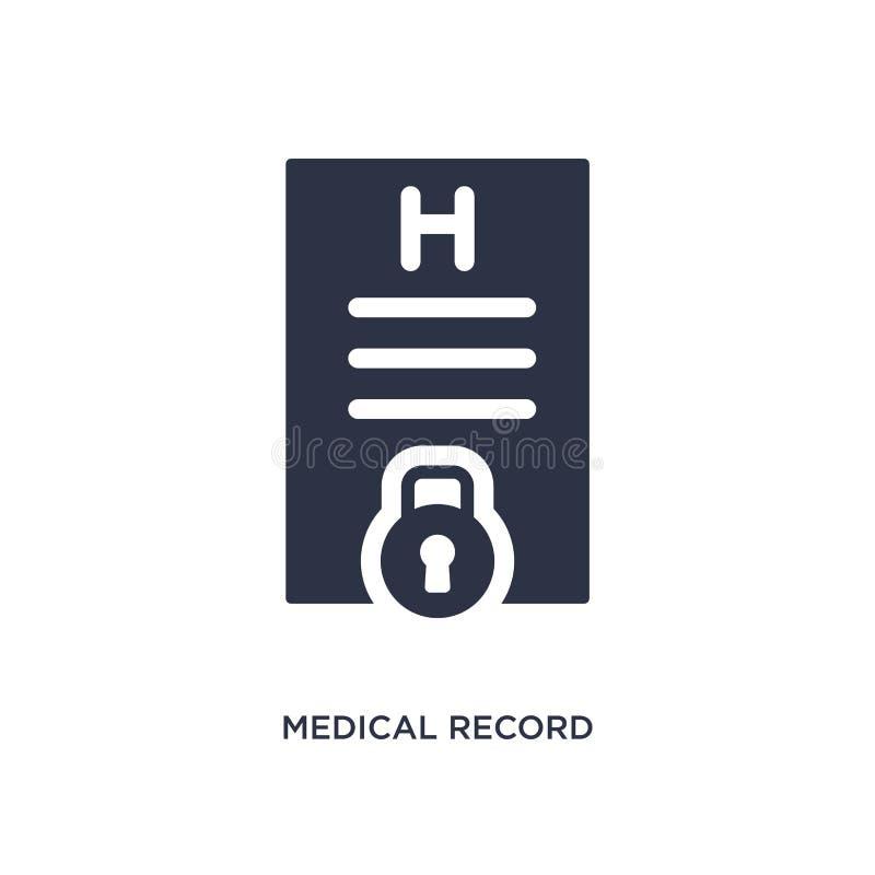 icono del informe médico en el fondo blanco Ejemplo simple del elemento del concepto del gdpr libre illustration