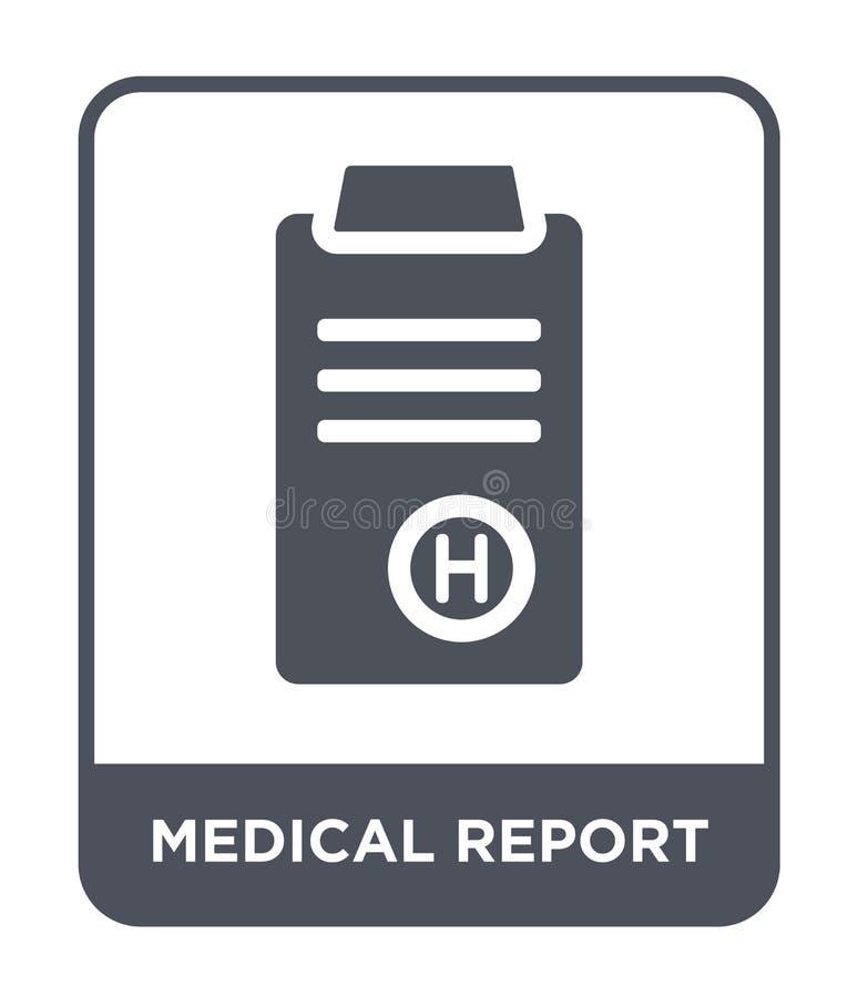 icono del informe médico en estilo de moda del diseño icono del informe médico aislado en el fondo blanco icono del vector del in ilustración del vector