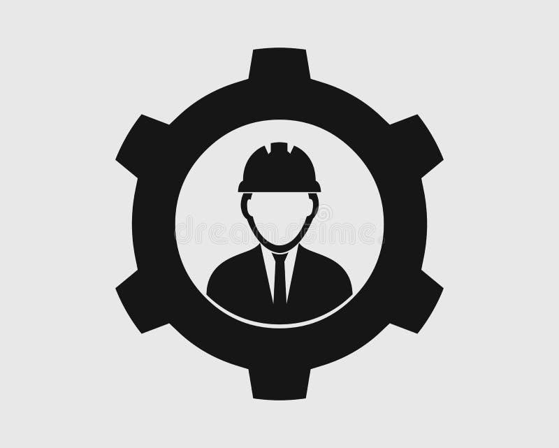 Icono del ingeniero industrial ilustración del vector