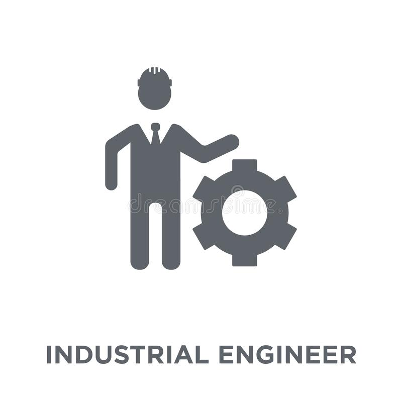 icono del ingeniero industrial de la colección de la industria ilustración del vector