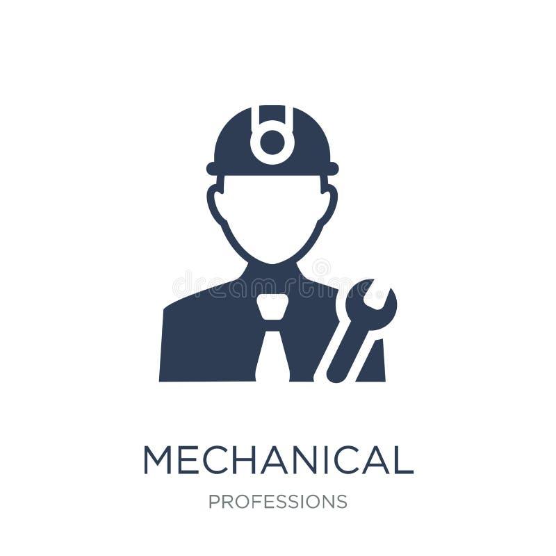 Icono del ingeniero industrial Ingeniero industrial del vector plano de moda ilustración del vector