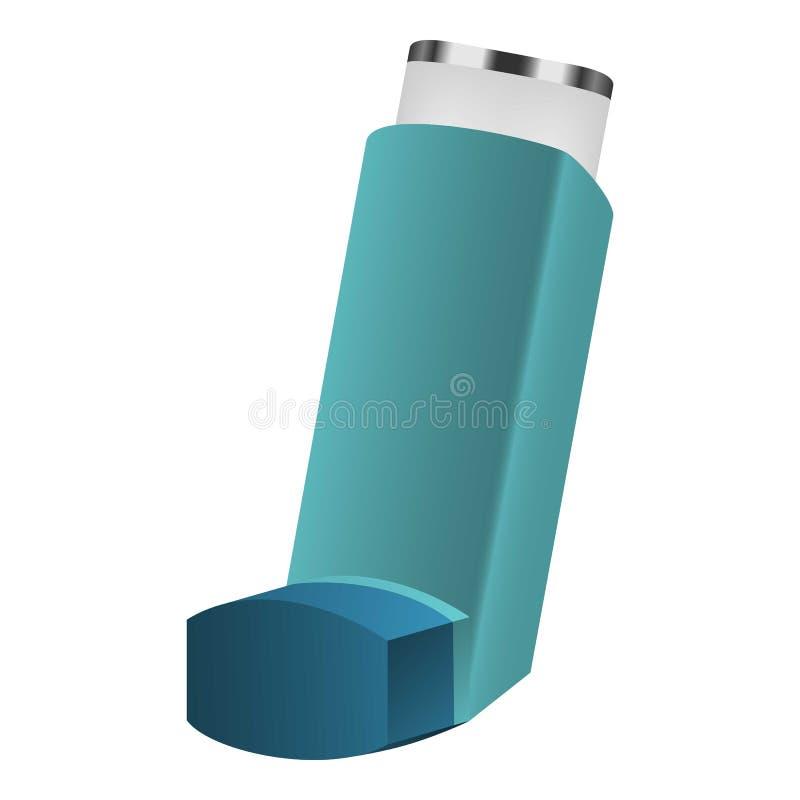Icono del inhalador, estilo realista libre illustration