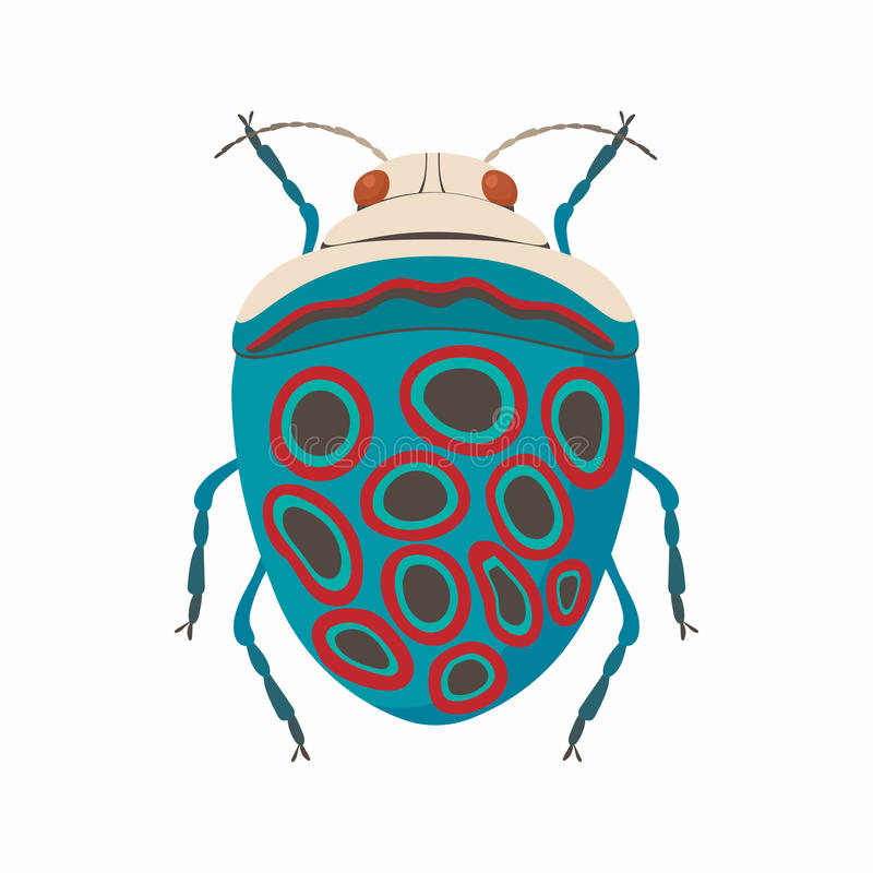 Icono del insecto, estilo de la historieta ilustración del vector